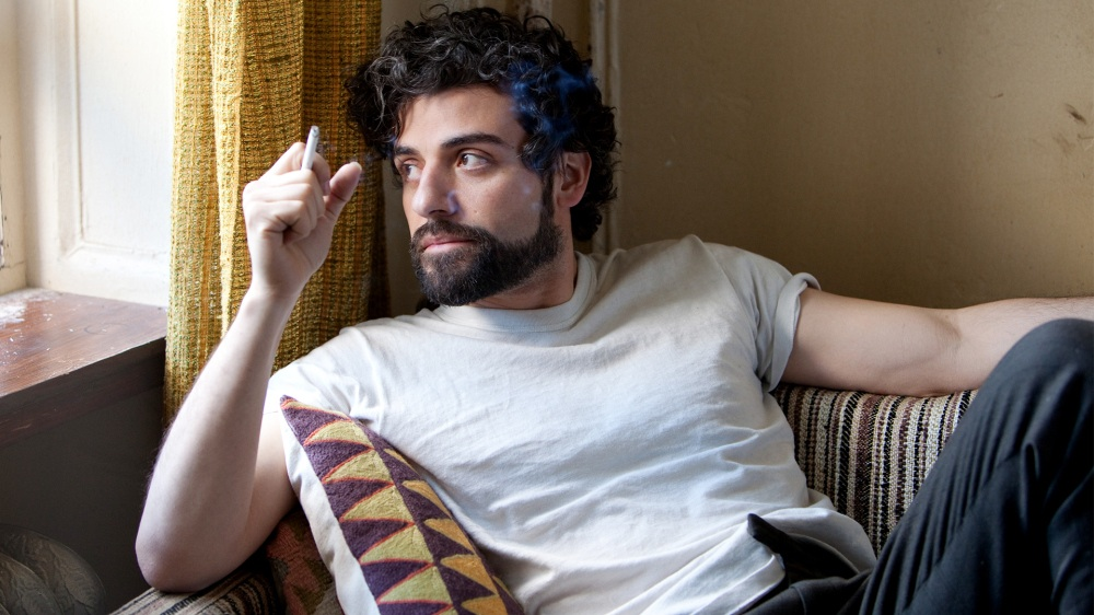 Oscar Isaac smoking a cigarette (or weed)